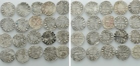 20 Helmet Denarii of the Crusader States. 