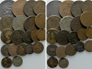 20 Coins of France; Belgium etc. 