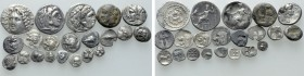 21 Greek Coins. 