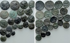 22 Greek Coins. 