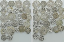 Circa 26 Medieval Coins; France etc. 