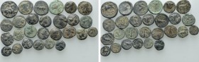 Circa 27 Greek Coins. 
