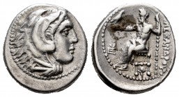 "Kingdom of Macedon. Alexander III, ""The Great"". Drachm. 324/3 a.C. Sardes. Struck under Menander. (Price-2553). Anv.: Heracles' head to right coated w..."