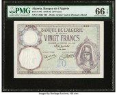 Algeria Banque de l'Algerie 20 Francs 13.8.1927 Pick 78b PMG Gem Uncirculated 66 EPQ.   HID09801242017  © 2020 Heritage Auctions | All Rights Reserved...