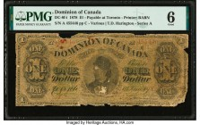 Canada Dominion of Canada $1 1.6.1878 DC-8f-i PMG Good 6.   HID09801242017  © 2020 Heritage Auctions | All Rights Reserved