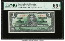 Canada Bank of Canada $1 2.1.1937 BC-21d PMG Gem Uncirculated 65 EPQ.   HID09801242017  © 2020 Heritage Auctions | All Rights Reserved