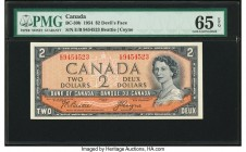 "Canada Bank of Canada $2 1954 BC-30b ""Devil's Face"" PMG Gem Uncirculated 65 EPQ.   HID09801242017  © 2020 Heritage Auctions 