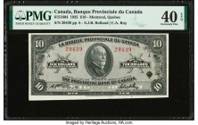 Canada Montreal, PQ- Banque Provinciale du Canada $10 2.1.1935 Ch.# 615-16-04 PMG Extremely Fine 40 EPQ.   HID09801242017  © 2020 Heritage Auctions | ...