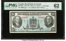 Canada Montreal, PQ- Royal Bank of Canada $20 2.1.1935 Ch.# 630-18-06a PMG Uncirculated 62. Stained.  HID09801242017  © 2020 Heritage Auctions | All R...