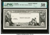 Canada Toronto, ON- Canadian Bank of Commerce $20 2.1.1917 Ch.# 75-16-04-16P1 Front Proof PMG About Uncirculated 50. Minor ink; one partial POC.  HID0...