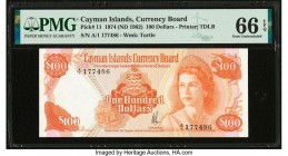 Cayman Islands Currency Board 100 Dollars 1974 (ND 1982) Pick 11 PMG Gem Uncirculated 66 EPQ.   HID09801242017  © 2020 Heritage Auctions | All Rights ...