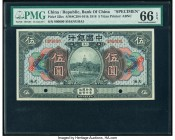 China Bank of China, Shanghai 5 Yuan 9.1918 Pick 52ks S/M#C294-101k Specimen PMG Gem Uncirculated 66 EPQ.   HID09801242017  © 2020 Heritage Auctions |...