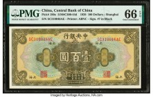 China Central Bank of China 100 Dollars 1928 Pick 199e PMG Gem Uncirculated 66 EPQ.   HID09801242017  © 2020 Heritage Auctions | All Rights Reserved