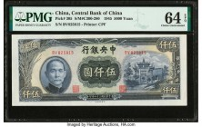 China Central Bank of China 5000 Yuan 1945 Pick 305 S/M#C300-280 PMG Choice Uncirculated 64 EPQ.   HID09801242017  © 2020 Heritage Auctions | All Righ...