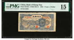 China Bank of Kiang Nau 1 Yuan = 1 Dollar 1945 Pick S3135A S/M#C106-14 PMG Choice Fine 15.   HID09801242017  © 2020 Heritage Auctions | All Rights Res...