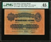 East Africa East African Currency Board 1000 Shillings = 50 Pounds 15.12.1921 Pick 18 PMG Choice Extremely Fine 45. Representing the highest degree of...