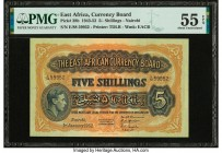 East Africa East African Currency Board 5 Shillings 1.1.1952 Pick 28b PMG About Uncirculated 55 EPQ.   HID09801242017  © 2020 Heritage Auctions | All ...