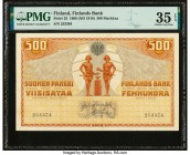 Finland Finlands Bank 500 Markkaa 1909 (ND 1918) Pick 23 PMG Choice Very Fine 35 EPQ.   HID09801242017  © 2020 Heritage Auctions | All Rights Reserved...