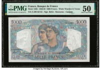 France Banque de France 1000 Francs 2.12.1948 Pick 130b PMG About Uncirculated 50.   HID09801242017  © 2020 Heritage Auctions | All Rights Reserved