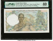 French West Africa Banque de l'Afrique Occidentale 1000 Francs 19.12.1952 Pick 42 PMG Extremely Fine 40.   HID09801242017  © 2020 Heritage Auctions | ...