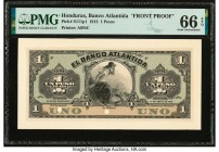 Honduras Banco Atlantida 1 Peso 1.4.1913 Pick S111p1 Proof PMG Gem Uncirculated 66 EPQ. Two POCs.  HID09801242017  © 2020 Heritage Auctions | All Righ...