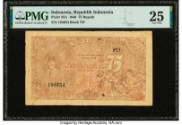 Indonesia Republik Indonesia 75 Rupiah 1948 Pick 33A PMG Very Fine 25.   HID09801242017  © 2020 Heritage Auctions | All Rights Reserved