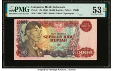 Indonesia Bank Indonesia 10,000 Rupiah 1968 Pick 112a PMG About Uncirculated 53 EPQ.   HID09801242017  © 2020 Heritage Auctions | All Rights Reserved
