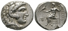 Cyprus, Kition, Pumiathon (c. 362/1-312 BC), Tetradrachm, in the name and types of Alexander III of Macedon, Kition, c. 325-320 BC, 17.28g, 27mm. Head...