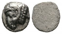 Cyprus, Salamis, Euelthon (c. 530/15-480), Obol, 0.63g, 8mm. Head of ram left / Blank. SNG Cop. 33 (Obol); BMC 8-9. Light porosity, Very Fine