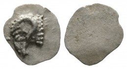 Cyprus, Salamis, Euelthon (c. 530/15-480), Hemiobol, 0.38g, 8mm. Head of ram left / Blank. Cf. SNG Cop. 33 (Obol); cf. BMC 8-9 (same). Very Fine and s...