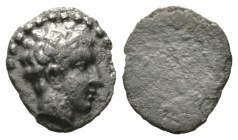 Cyprus, Salamis, Evagoras I (c. 411-374/3 BC), 1/12 Stater, 0.72g, 8mm. Bare head of male right / Blank. SNG Cop. 42; BMC 45. Porous, Very Fine