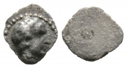 Cyprus, Salamis, Evagoras I (c. 411-374/3 BC), 1/12(?) Stater, 0.37g, 8mm. Bare head of male right / Blank. Zapiti & Michaelidou 9; Tziambazis 116; BM...