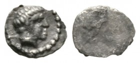 Cyprus, Salamis, Evagoras I (c. 411-374/3 BC), 1/24 Stater, 0.13g, 6mm. Bare head of male right / Blank. Cf. SNG Cop. 42 (1/12 Stater); cf. BMC 45 (sa...