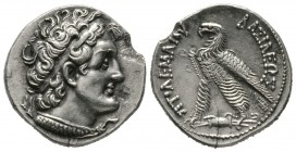 Ptolemaic Kings of Egypt, temp. Ptolemy V-VI (205-145 BC), Tetradrachm, Alexandreia or Cyprus?, 13.65g, 27mm. Diademed head of Ptolemy I right, wearin...