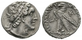 Ptolemaic Kings of Egypt, Ptolemy VI Philometor (180-145 BC), Tetradrachm, Kition, year 30 (152/1 BC). Diademed head of Ptolemy I right, wearing aegis...