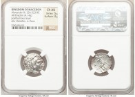MACEDONIAN KINGDOM. Alexander III the Great (336-323 BC). AR drachm (20mm, 4.14 gm, 10h). NGC Choice AU 5/5 - 3/5. Posthumous issue of Ionia-Chios, ca...