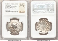 MACEDON UNDER ROME. First Meris. Ca. 167-148 BC. AR tetradrachm (30mm, 16.88 gm, 9h). NGC Choice XF 5/5 - 5/5 Bust of Artemis right, wearing stephane,...