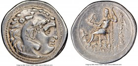 THRACIAN KINGDOM. Lysimachus (305-281 BC). AR drachm (19mm, 12h). NGC Choice VF. Lifetime issue of Colophon, in the types of Alexander III of Macedon,...