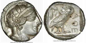 ATTICA. Athens. Ca. 440-404 BC. AR tetradrachm (24mm, 17.21 gm, 10h). NGC MS 5/5 - 4/5, brushed. Mid-mass coinage issue. Head of Athena right, wearing...
