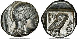 ATTICA. Athens. Ca. 440-404 BC. AR tetradrachm (25mm, 17.23 gm, 4h). NGC MS 3/5 - 5/5. Mid-mass coinage issue. Head of Athena right, wearing crested A...