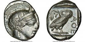 ATTICA. Athens. Ca. 440-404 BC. AR tetradrachm (25mm, 17.19 gm, h). NGC MS 3/5 - 4/5. Mid-mass coinage issue. Head of Athena right, wearing crested At...