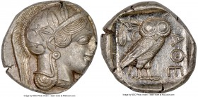 ATTICA. Athens. Ca. 440-404 BC. AR tetradrachm (26mm, 17.20 gm, h). NGC MS 3/5 - 4/5. Mid-mass coinage issue. Head of Athena right, wearing crested At...
