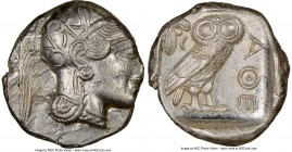 ATTICA. Athens. Ca. 440-404 BC. AR tetradrachm (25mm, 17.20 gm, 7h). NGC MS 2/5 - 4/5. Mid-mass coinage issue. Head of Athena right, wearing crested A...