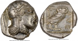 ATTICA. Athens. Ca. 440-404 BC. AR tetradrachm (24mm, 17.20 gm, 4h). NGC MS 2/5 - 4/5. Mid-mass coinage issue. Head of Athena right, wearing crested A...
