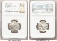 ATTICA. Athens. Ca. 440-404 BC. AR tetradrachm (24mm, 17.06 gm, 9h). NGC Choice AU 5/5 - 5/5. Mid-mass coinage issue. Head of Athena right, wearing cr...