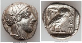 ATTICA. Athens. Ca. 440-404 BC. AR tetradrachm (26mm, 17.19 gm, 8h). Choice XF. Mid-mass coinage issue. Head of Athena right, wearing crested Attic he...
