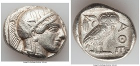ATTICA. Athens. Ca. 440-404 BC. AR tetradrachm (26mm, 17.13 gm, 5h). Choice VF. Mid-mass coinage issue. Head of Athena right, wearing crested Attic he...