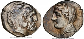 CARIAN ISLANDS. Cos. Ca. mid-4th century BC. AR didrachm (20mm, 12h). NGC Choice VF. Biton, magistrate, ca. 345-340 BC. Head of Heracles right, bearde...