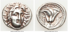 CARIAN ISLANDS. Rhodes. Ca. 250-230 BC. AR didrachm (20mm, 6.67 gm, 12h). About XF. Mnasimaxus, magistrate. Radiate head of Helios facing, turned slig...