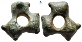 Central Europe.  circa 300-100 BC. Ring or Wheel Money AE